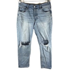 AEO Vintage Hi Rise Distressed Button Fly Jeans